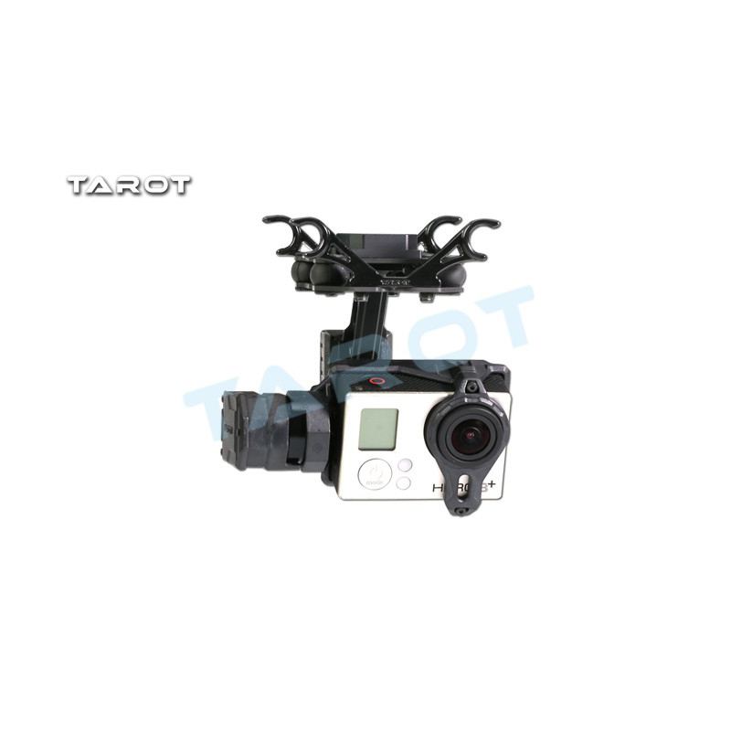 Tarot T2-2D 2 Axis Brushless Gimbal for Hero 4/3+/3 TL2D01 FPV Gimbal Braket Multicopter ormino tarot kit t2 2d gimbal 2 axis brushless for gopro hero 4 3 3 fpv gimbal drone quadcopter with camera gimbal 2 axis