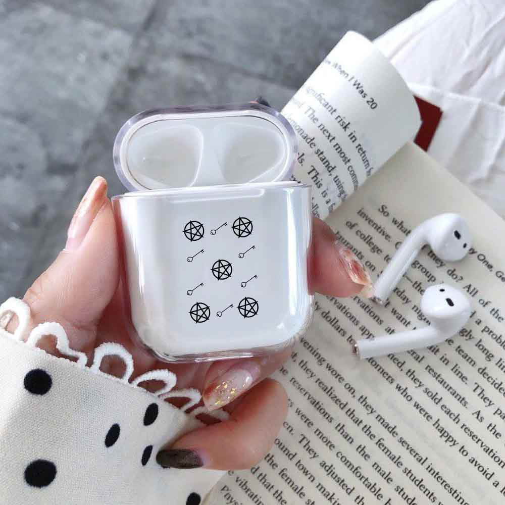 Laugh Life Hard Body Care Earphone Case For Apple Airpods Case Cover Transparent Clear Luxury Earphone Case For Airpods Cases in Earphone Accessories from Consumer Electronics