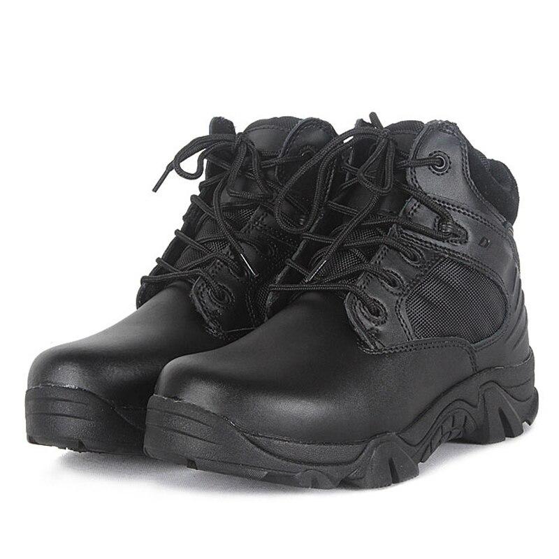 Moške vojaške čevlje Vintage čipke gor taktične škornje moške trajne vojske kratke škornje Plus velikost 39-45 zimske črne čevlje