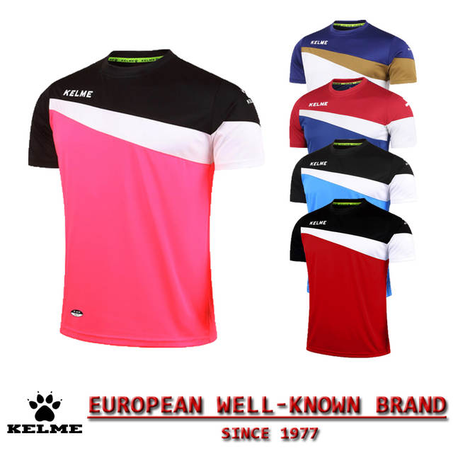 8fcc7f31c placeholder KELME Official Authentic Spain Mens Football Shirt Short Sleeve Soccer  Jerseys Survetement futebol Athletic Football Shirt