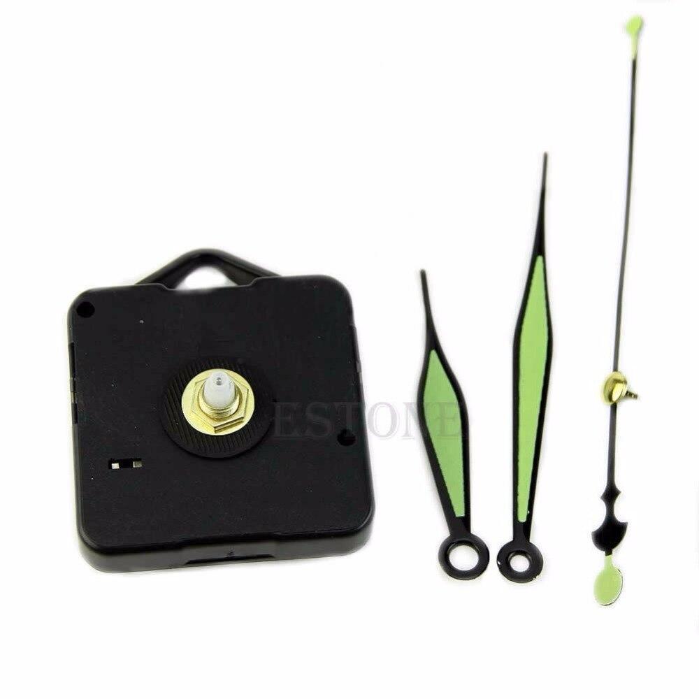 Green Luminous Quartz Wall Clock Spindle Movement Mechanism Part DIY Repair Tools Parts Kit 2