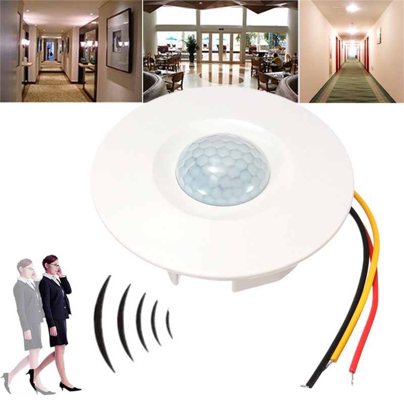 Ceiling PIR Sensor Switch Recessed PIR Infrared Human Body Induction Switch Light Control Ceiling Lamp Motion Sensor Detector l0606 infrared human body induction lamp auto pir 6 leds light 6v