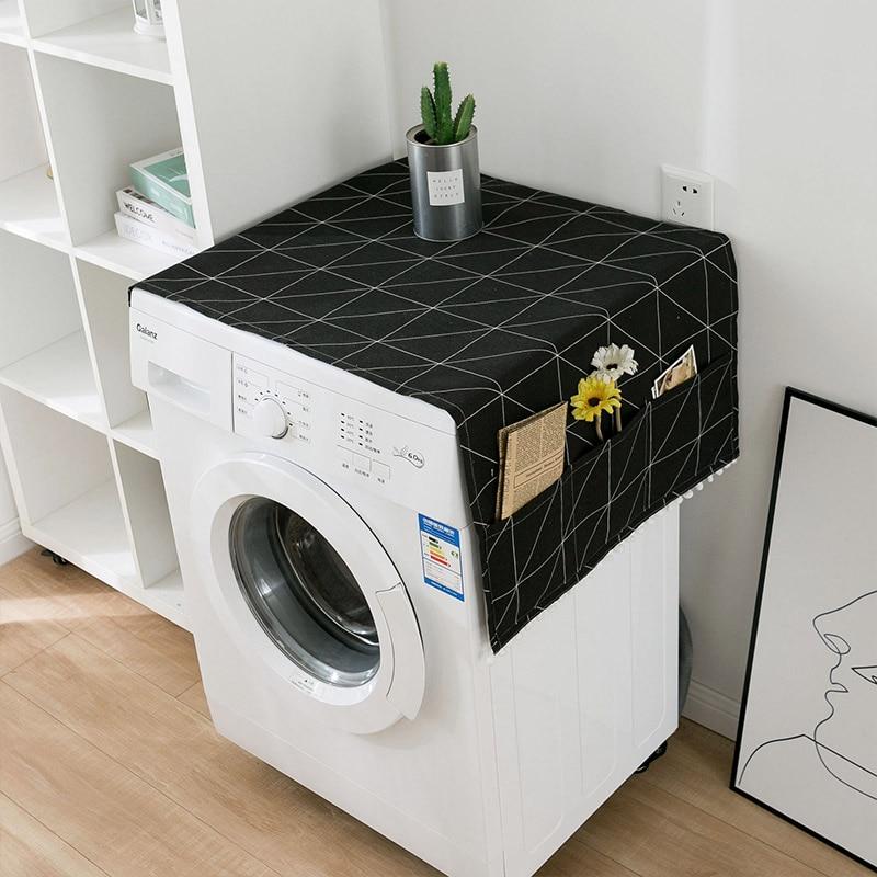 Геометрическая стиральная машина Пылезащитная Крышка для кухонного холодильника пылезащитные чехлы с сумкой для хранения чистящие аксессуары чехол - Цвет: M