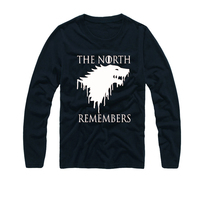 2017 New Brand Print Casual Game Of Thrones T Shirt Men The North Remembers Blood Wolf