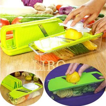 2015 new multifunctional shredder salad vegetable cutter set salad sliced shredded vegetable dishes device Kit