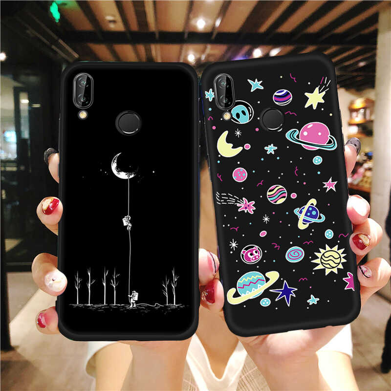 Fashion Space Pattern TPU Case For Huawei P20 Mate 10 Pro P10 P8 P9 Lite 2017 Nova 2i Stars Painted Cover For Honor 8 Lite 9i