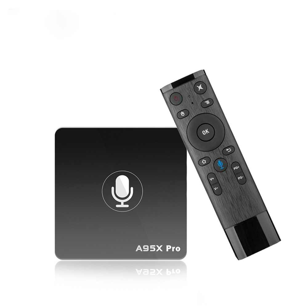 Google Smart tv Box A95X Pro 2G 16G смарт-ТВ на андроид 7,1 tv Box Голосовое управление Amlogic S905W WiFi box tv медиаплеер PK mi box