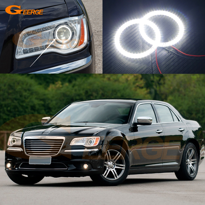 For Chrysler 300 2011 2012 2013 2014 HALOGEN headlight Excellent led Angel Eyes Ultra bright smd led Angel Eyes Halo Ring kit bigbang 2012 bigbang live concert alive tour in seoul release date 2013 01 10 kpop
