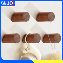 Robe Hooks Wall Mounted Wood Coat Hooks Rack Crafts Decorative Bathroom Hook for Towels Key Bag Caddy Clothes Hanger Storage robe hooks stainless steel bathroom hook for towels key bag hat clothes coat hook wall mounted door hanger decorative hang rack