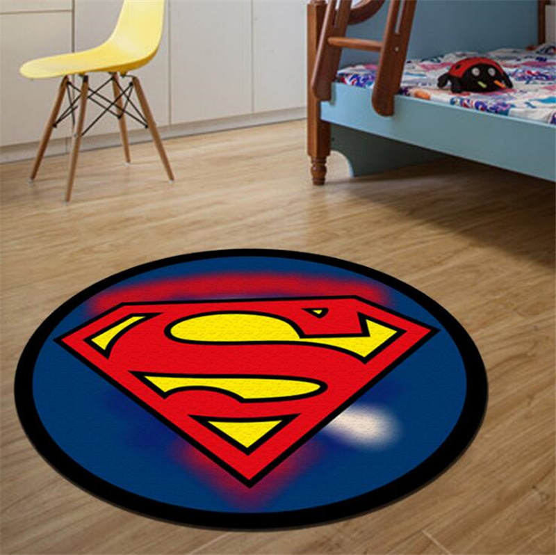 Superhero Logo Printed Anti-slip Rugs Best Children's Lighting & Home Decor Online Store