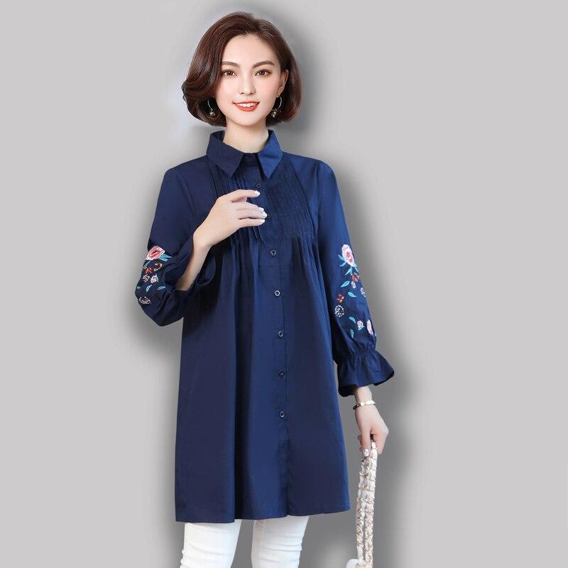 78d9646db1d YICIYA темно синие плюс размеры большой 4XL 5XL для женщин Мини платье  рубашка цветочные оборками Зима
