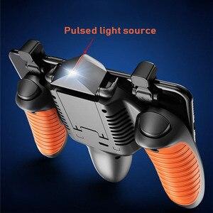 Image 4 - PUBG المحمول جهاز التحكم في عصا التحكم برودة غمبد الحرة النار L1R1 مع مروحة التبريد للهاتف المحمول أذرع التحكم في ألعاب الفيديو المقود أزرار