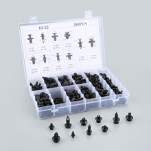 280Pcs Mixed Car Fasteners Nylon rivet fixed Clip With Box For Fender Bumper Door Surface 10Kinds