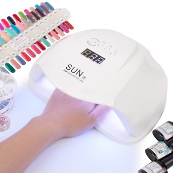 DCOVOR SUN X 54W Nail Dryer UV LED Lamp LCD Display 36 LEDs Dryer Lamp for Curing Gel Polish Auto Sensing Nail Manicure Tool