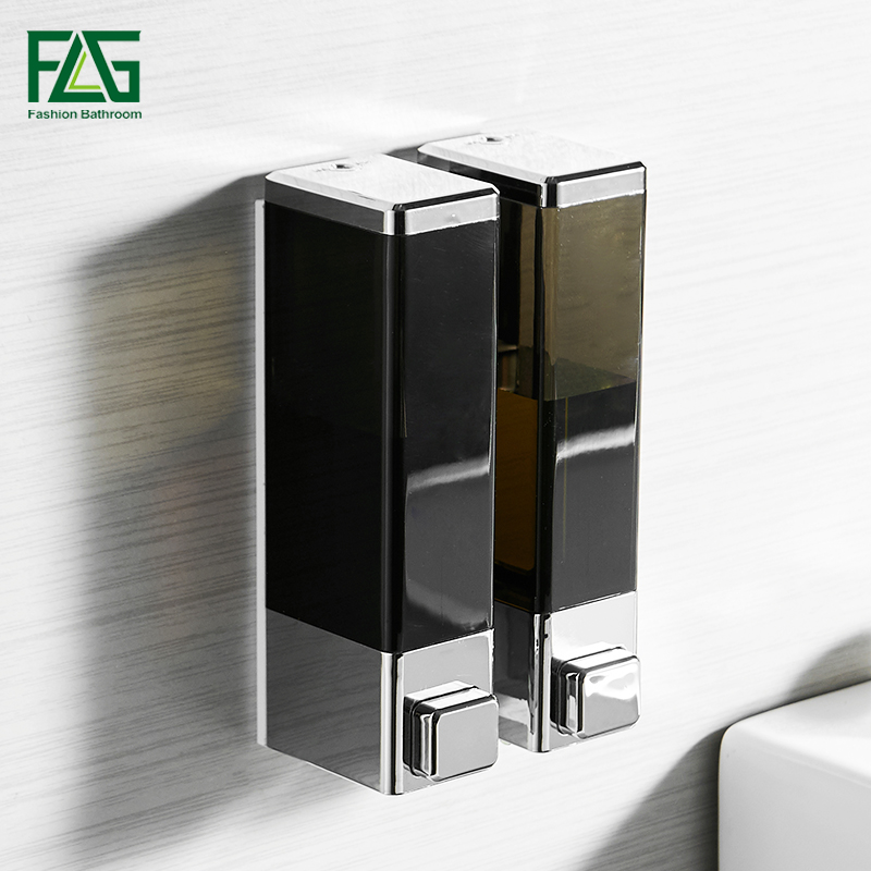 FLG Liquid Soap Dispenser Wall Mounted Dispensers Soap Dispenser Kitchen Bathroom Bottle Plastic Pump Dispensers