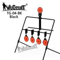 5 Plate Reset Shooting Target Tactical Metal Steel Slingshot BB Gun Airsoft Paintball Archery Hunting Decoy