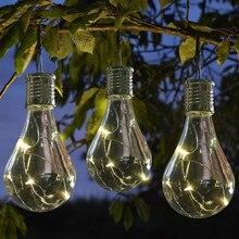 Подвесной ночник лампа 1,2 в солнечные панели светодиодный IP44 Водонепроницаемый Солнечный вращающийся Открытый Сад Кемпинг новогодний декор^ 15