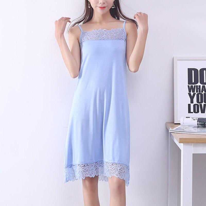 Mulher Camisas de Noite Pijamas Vestido Noite Sexy Sem Mangas de Algodão e Rendas Mulheres Nightdress Nightgowns Plus Size Senhoras