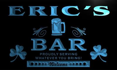 x0033-tm Erics Home Bar Shamrock Custom Personalized Name Neon Sign Wholesale Dropshipping On/Off Switch 7 Colors DHL