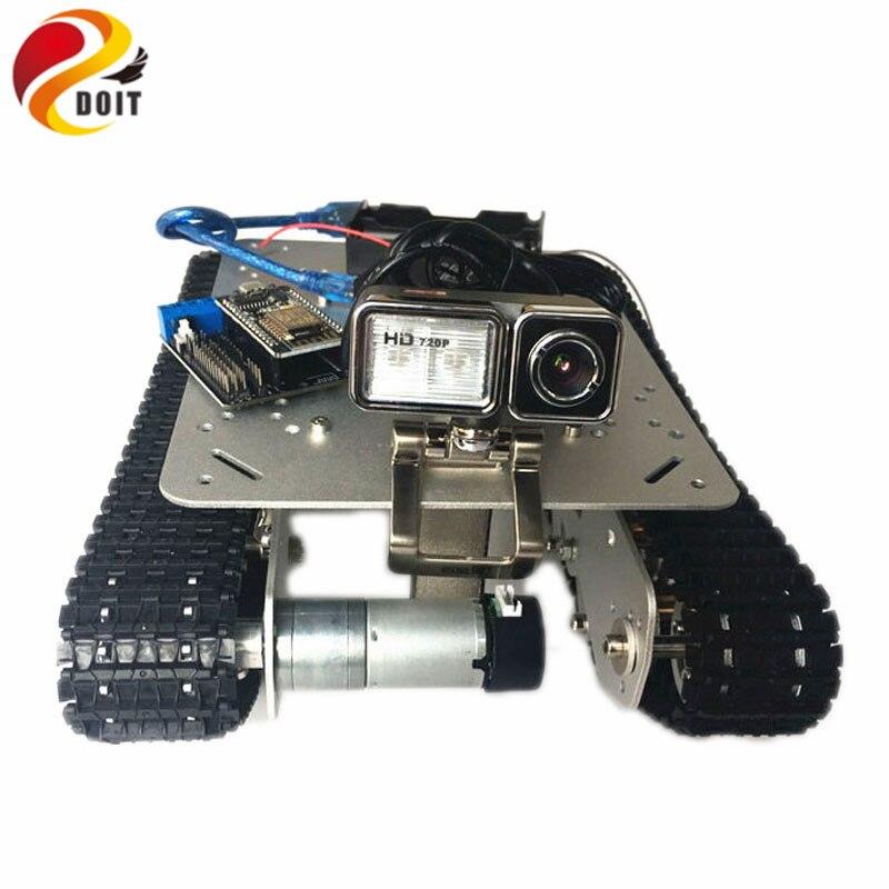 Châssis de réservoir d'amortisseur Robot WiFi RC contrôlé par téléphone Android/IOS basé sur la carte de développement Nodemcu ESP8266 TS100