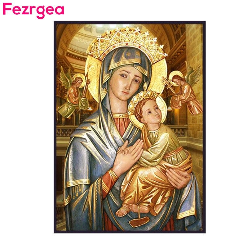Fezrgea Diamond Painting 크로스 스티치 종교 지도자의 - 예술, 공예, 바느질