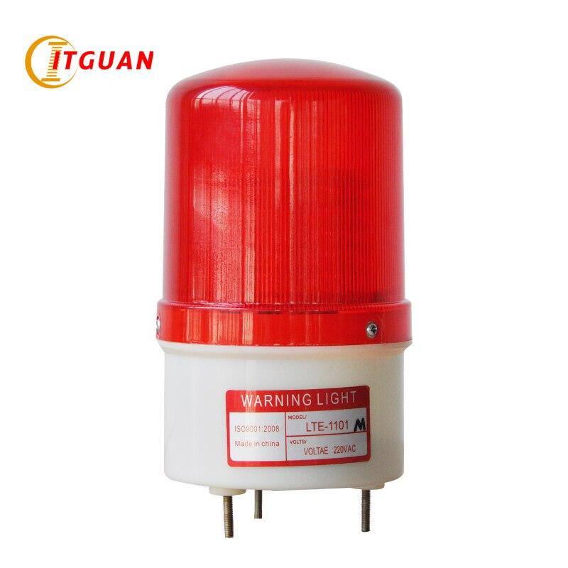 LTE 1101M DC AC12V 380V Led Warning Light LED Simulated Rotary Warning Lamp Alarm warning light