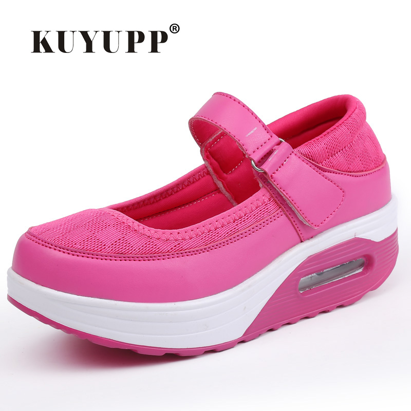 Estilo Mary Janes Mulheres Sapatos Da Moda Sapatos Baixos Top sapatos de  Plataforma Sapatos Casuais zapatillas deportivas mujer Mulheres Respirável  ... b640be13f3c