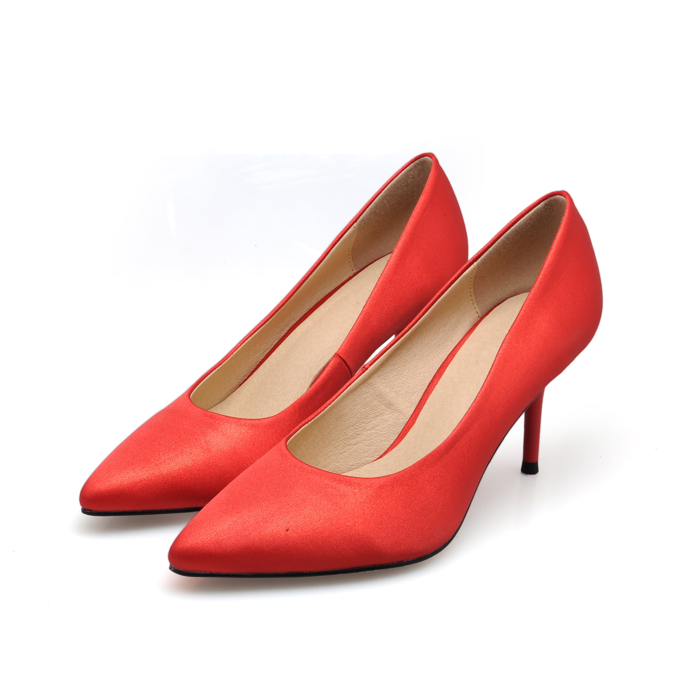 Black Womens Shoes New Fashion Genuine Leather Pumps Shoe Plus Size 34-41 Ladies Office Casual Pointed Toe High Heels SMYBK-75 new 2017 spring summer women shoes pointed toe high quality brand fashion womens flats ladies plus size 41 sweet flock t179