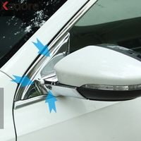For Jetta 6 MK6 2015 2016 ABS Chrome Front Window Triangle Cover Trim Auto Window A Pillar Car Styling Sticker
