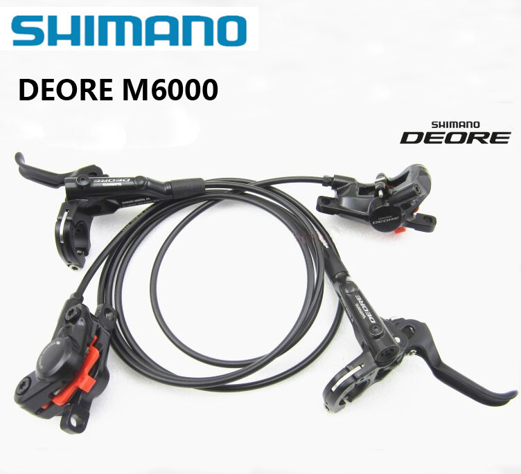 SHIMANO DEORE BR M6000 frein de vélo à disque hydraulique gauche et droite vtt vélo de montagne pince de frein plaquettes de vélo set PK MT200 M355 M365