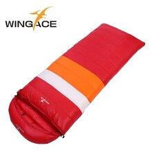 WINGACE Fill 1200G 1500G 1800G 2000G Goose Down Sleeping Bag Adult Outdoor Camping Envelope Hooded Winter Travel Sleep Bag