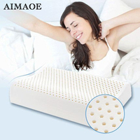 With Pillow Case Contour Massage Natural Latex Pillow For Children And Adults Cervical Health Care Pillow