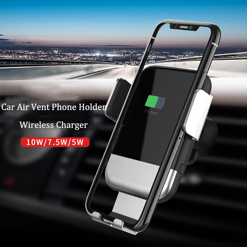 QI Car Wireless Charger Air Vent Gravity Phone Holder for iPhone Xs Max 8 Samsung S10 Automatic Sensor Universal Stand Mount QI Car Wireless Charger Air Vent Gravity Phone Holder for iPhone Xs Max 8 Samsung S10 Automatic Sensor Universal Stand Mount