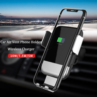 QI Car Wireless Charger Air Vent Gravity Mount for iPhone Xs Max 8 Samsung S10 5G S10+ Automatic Sensor Universal Stand Holder