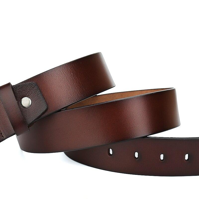Catelles Manliga äkta läderrem Designer Bälten Män Hög kvalitet - Kläder tillbehör - Foto 3