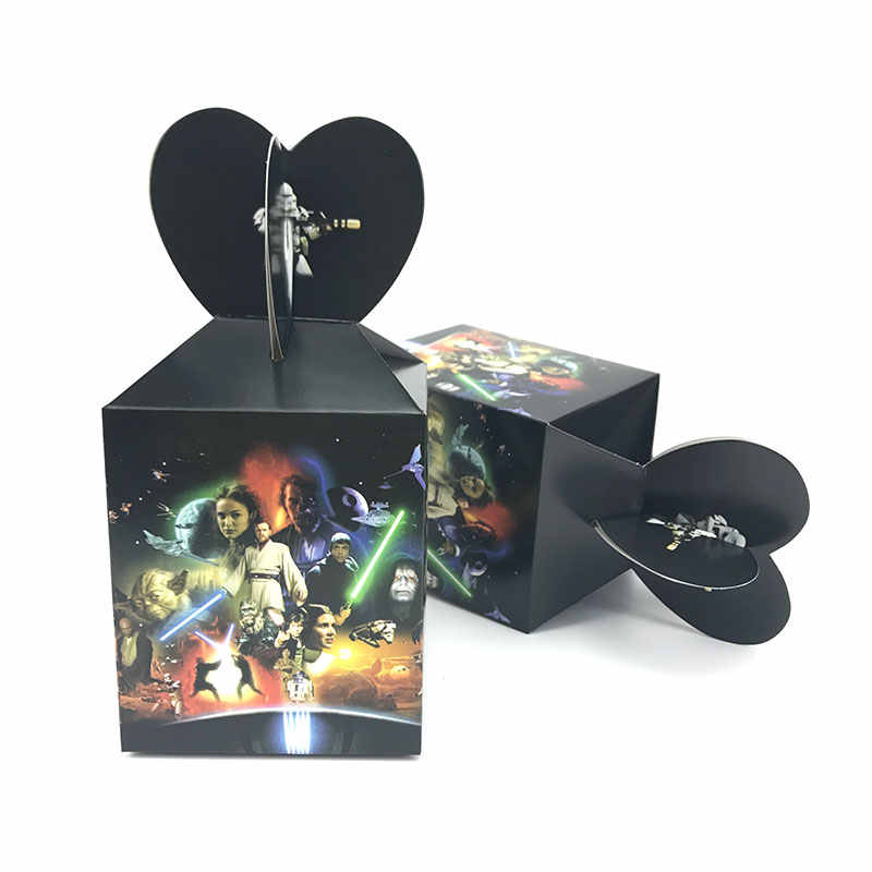 12pcs Star War Cartoon Candy Box Baby Shower Birthday Party Decorations Paper Kids Gift Packaging