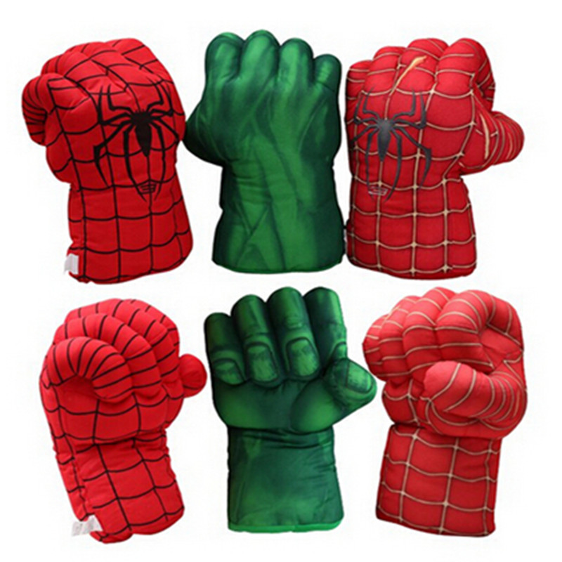 2pcs/lot Hot Selling Item Plush Toy The Avengers Spiderman Boxing Glove Popular Toy gift For children  Fitness Apparatur Game