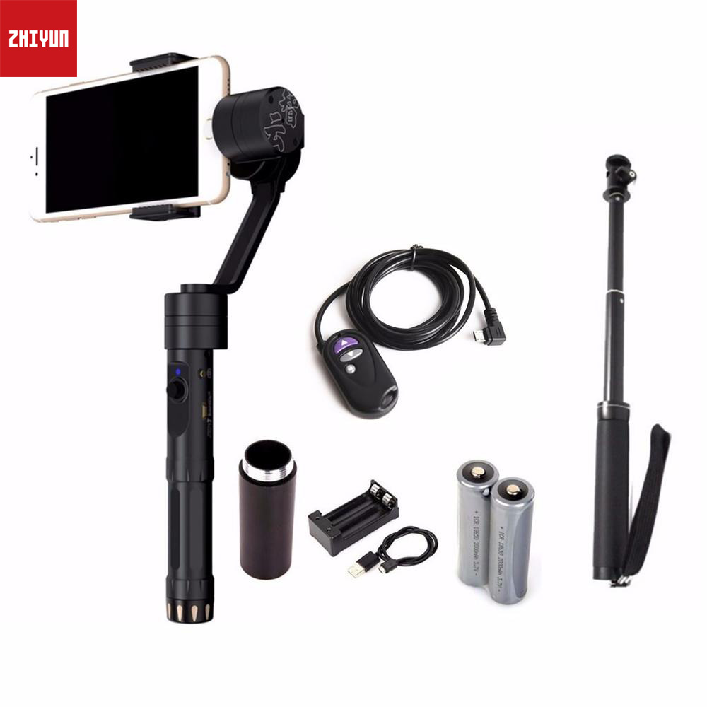 Zhiyun Z1-Smooth-II 3-Axis Joystick Handheld Steady Gimbal Tripods for iPhone Huawei < 7 Smartphone zhiyun z1 rider2 3 axle handheld brushless gimbal for skiing