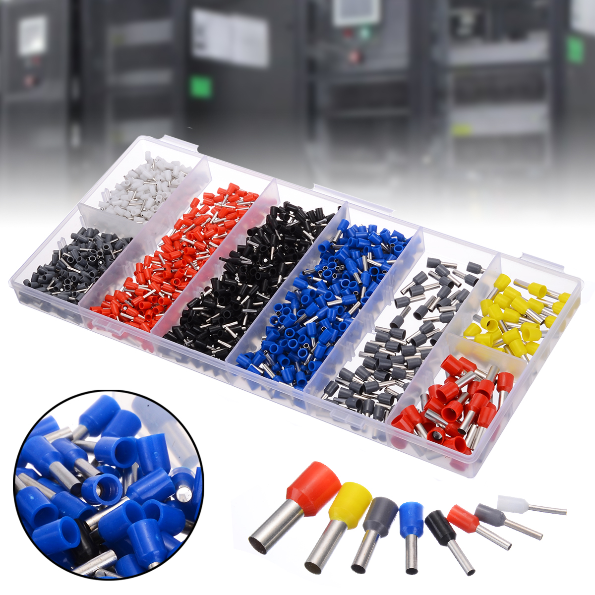 685pcs/box Insulated 0.5-10mm2 End Sleeve Cable Lugs Wire End Ferrule Terminal Assortment Kits Wire Connector Terminals