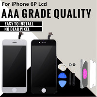 1Pcs No Dead Pixel For IPhone 6 Plus LCD Display Touch Screen Digitizer Assembly Replacement Black