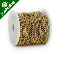 2 4MM Brass 14K Gold Plated Ball Chain Handmade Sold 25 Meters Per Roll