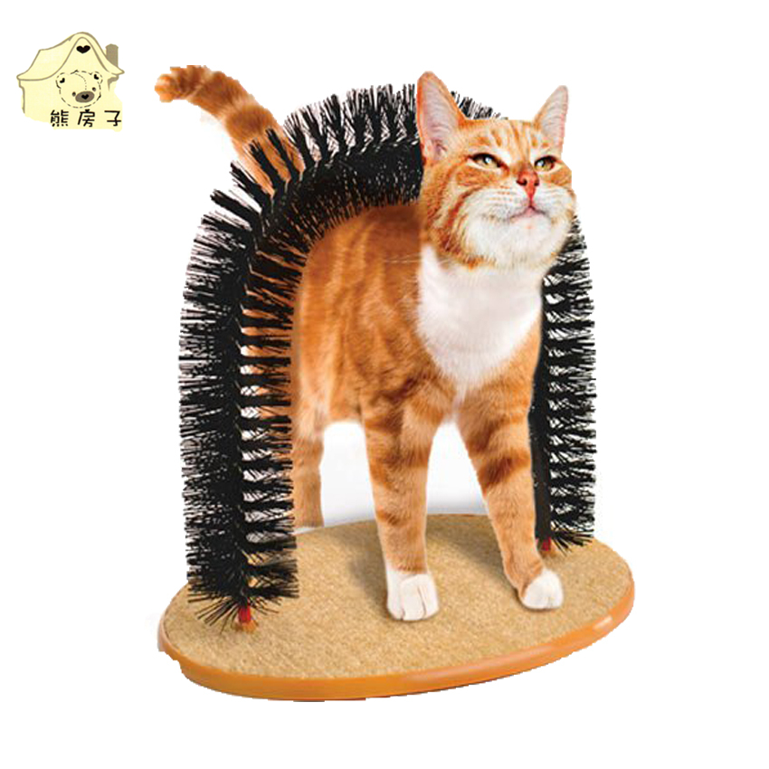 High Quality Pet Toys Arch Shape Cat Self Groomer Massager