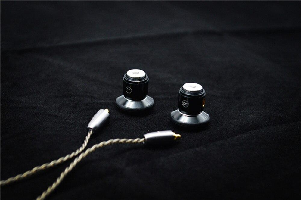 100% Nieuwste FENGRU DIY Platte hoofd Metalen oortelefoon DIY Dynamic Drive Unit oortelefoon HiFi oortje met MMCX Interface - 5