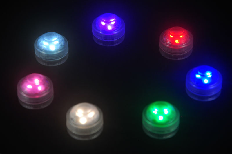 10*3LEDs submersible led light outdoor decorative lights with remote control for waterproof wedding party decor