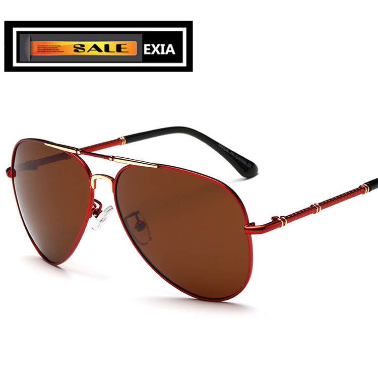Brown font b Sunglasses b font Lenses Polarized High Vision Men Driving Spectacle EXIA OPTICAL KD