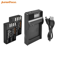 Powtree For Pentax 7.2V 1400mAh D-Li109 DLi109 DLi 109 Battery + LCD Charger K30 K50 K-30 K-50 K500 K-500 K-S1 KS1 K-S2 KS2