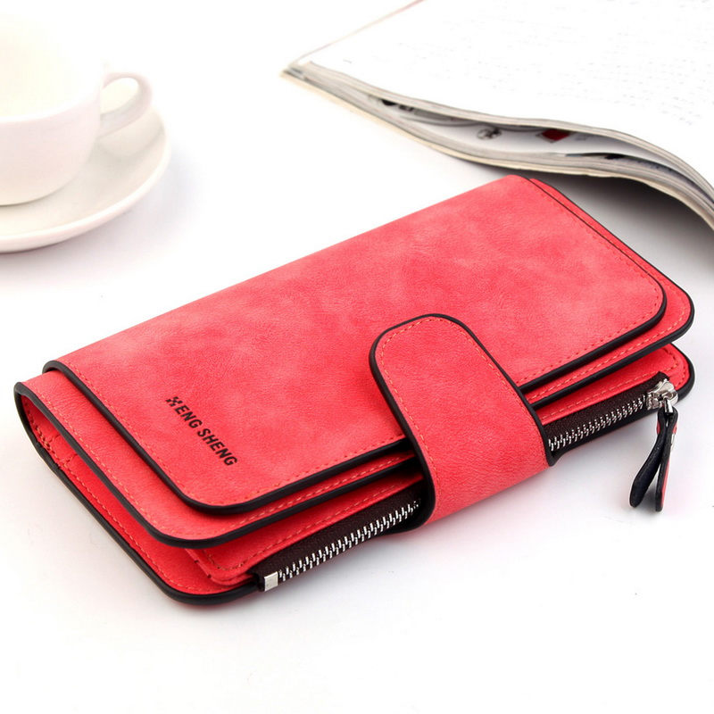 Clearance Lady's Multi-Function Wallet Women Multi-Card   Card Bag  Wallet Women Three-Fold Long-Style Purse(China)