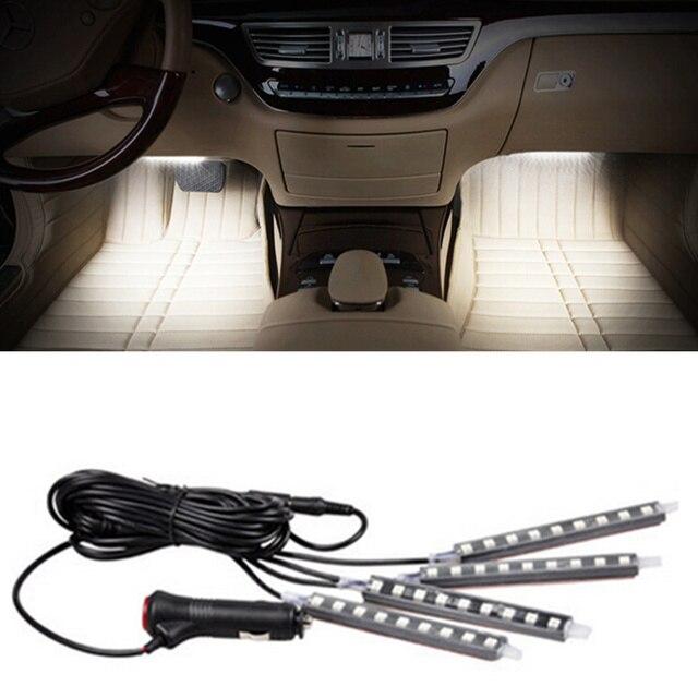 4x9LED 12 V led Decoratieve Sfeer Auto interieur Verlichting Voor ...