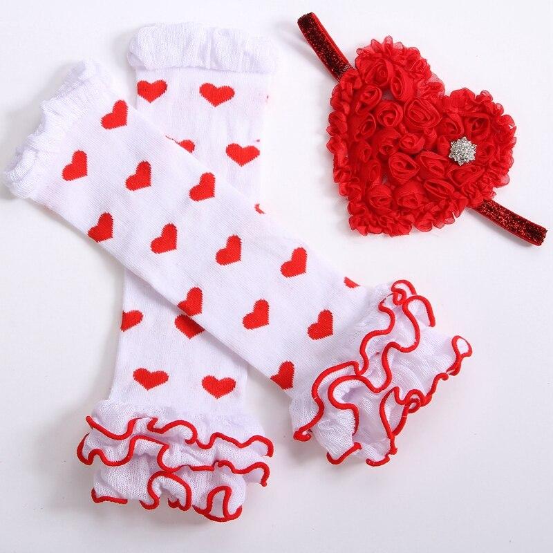 Legging Baby Legwarmers Girl Headbands Knitting Pattern Setsocks