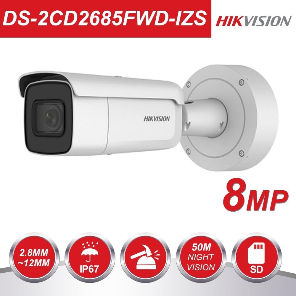 Hikvision Vari-focal 2.8-12mm Bullet IP Caméra DS-2CD2685FWD-IZS 8 Mégapixels Vidéo Surveillance POE CCTV Caméra H.265 IR 50 m